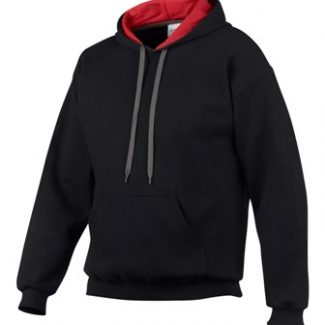 GILDAN CONTRAST HOODED SWEATSHIRT