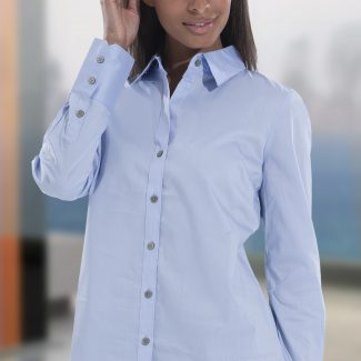 CALVIN KLEIN LADIES L/S STRETCH SHIRT