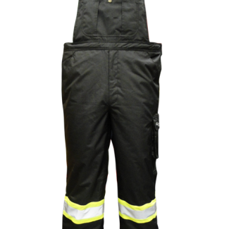 Viking Professional® Freezer Insulated Journeyman 300D Trilobal Rip-Stop FR Overalls Black -50c/60f