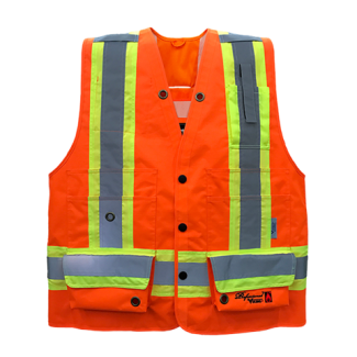 Viking Professional® Journeyman 300D Trilobal Rip-stop FR Surveyor Vest ORange