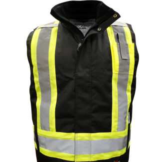 Viking Professional® Insulated Journeyman 300D Trilobal Rip-Stop FR Vest Black