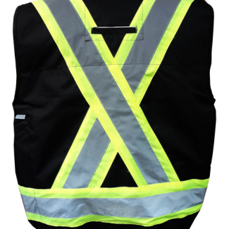 Viking Professional® Journeyman 300D Trilobal Rip-stop FR Surveyor Vest Black