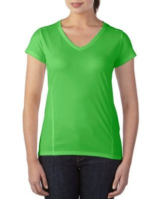 Gildan Ladies V-neck T-shirt