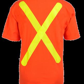 "Viking® Safety Cotton T-shirt Diagonal ""X"" Pattern on Back"