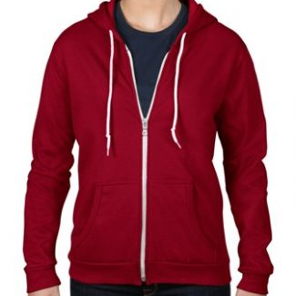 ANVIL Women's full zip hooded fleece