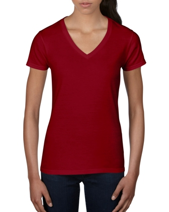 ANVIL WOMEN'S CRS FASHION V-NECK TEE