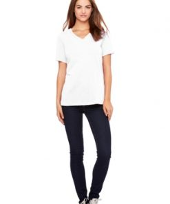BELLA RELAXED JERSEY S/S V-NECK TEE