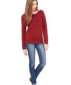 BELLA SPONGE FLEECE WIDE NECK SWEATSHIRT