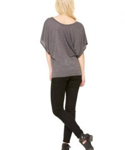 BELLA FLOWY DRAPED SLEEVE DOLMAN TEE