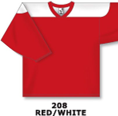 Athletic Knit Hockey Jerseys : Athletic Knit Hockey Jersey H6100-Red/White - uniformsandink.com