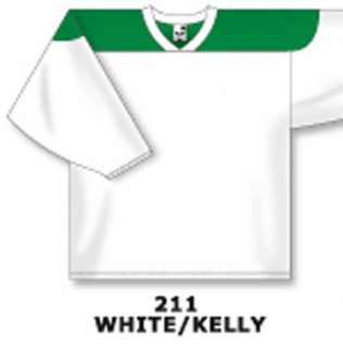 Athletic Knit Hockey Jersey H6100-White/Kelly