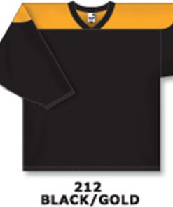 Athletic Knit Hockey Jersey H6100-Black/Gold
