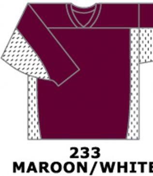 H687-Maroon/White