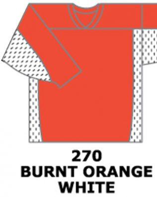 H687-Burnt Orange/White
