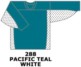 H687-Pacific Teal / White