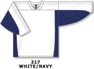 Athletic Knit Hockey Jersey H7100-White/Navy