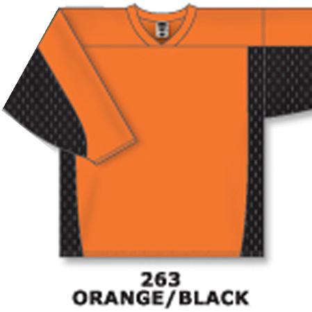 f0524c452 Athletic Knit Hockey Jersey H7100-Orange/Black – uniformsandink.com