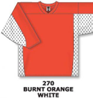 Athletic Knit Hockey Jersey H7100-Burnt Orange/White