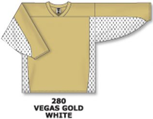 Athletic Knit Hockey Jersey H7100-Vegas Gold / White