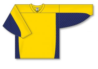 Athletic Knit Hockey Jersey H7100-Maize / Navy