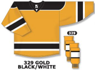 Athletic Knit Hockey Jersey H7500-Gold/Black/White
