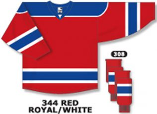 Athletic Knit Hockey Jersey H7500-Red/Royal/White