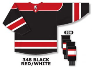 Athletic Knit Hockey Jersey H7500-Black/Red/White