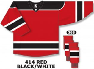 Athletic Knit Hockey Jersey H7500-Red/Black/White