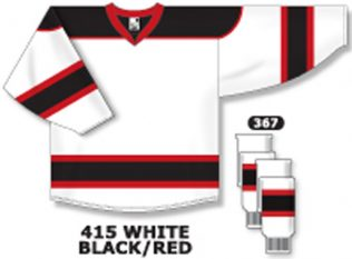 Athletic Knit Hockey Jersey H7500-White/Black/Red