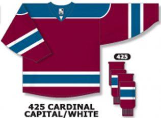 Athletic Knit Hockey Jersey H7500-Cardinal/Capital/White