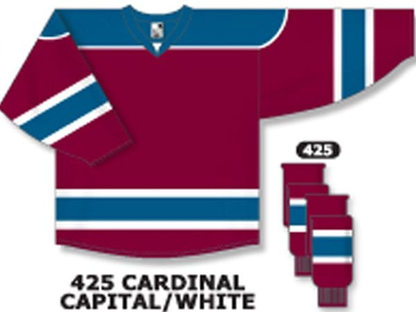 b9580c1c1 Athletic Knit Hockey Jersey H7500-Cardinal/Capital/White ...