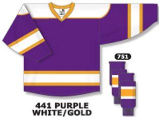 Athletic Knit Hockey Jersey H7500-Purple/White/Gold