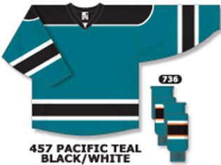 Athletic Knit Hockey Jersey H7500-Pacific Teal/Black/White