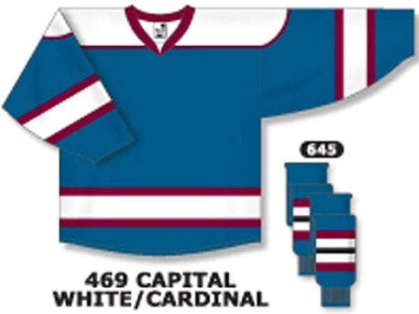 online store 75a0f a3f37 Athletic Knit Hockey Jersey H7500-Capital/White/Cardinal