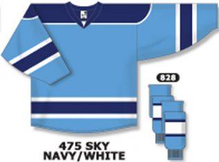 Athletic Knit Hockey Jersey H7500-Sky/Navy/White