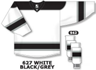 Athletic Knit Hockey Jersey H7500-White/Black/Grey