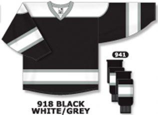 Athletic Knit Hockey Jersey H7500-Black/White/Grey