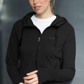 OAKLEY Women's full zip hooded fleece