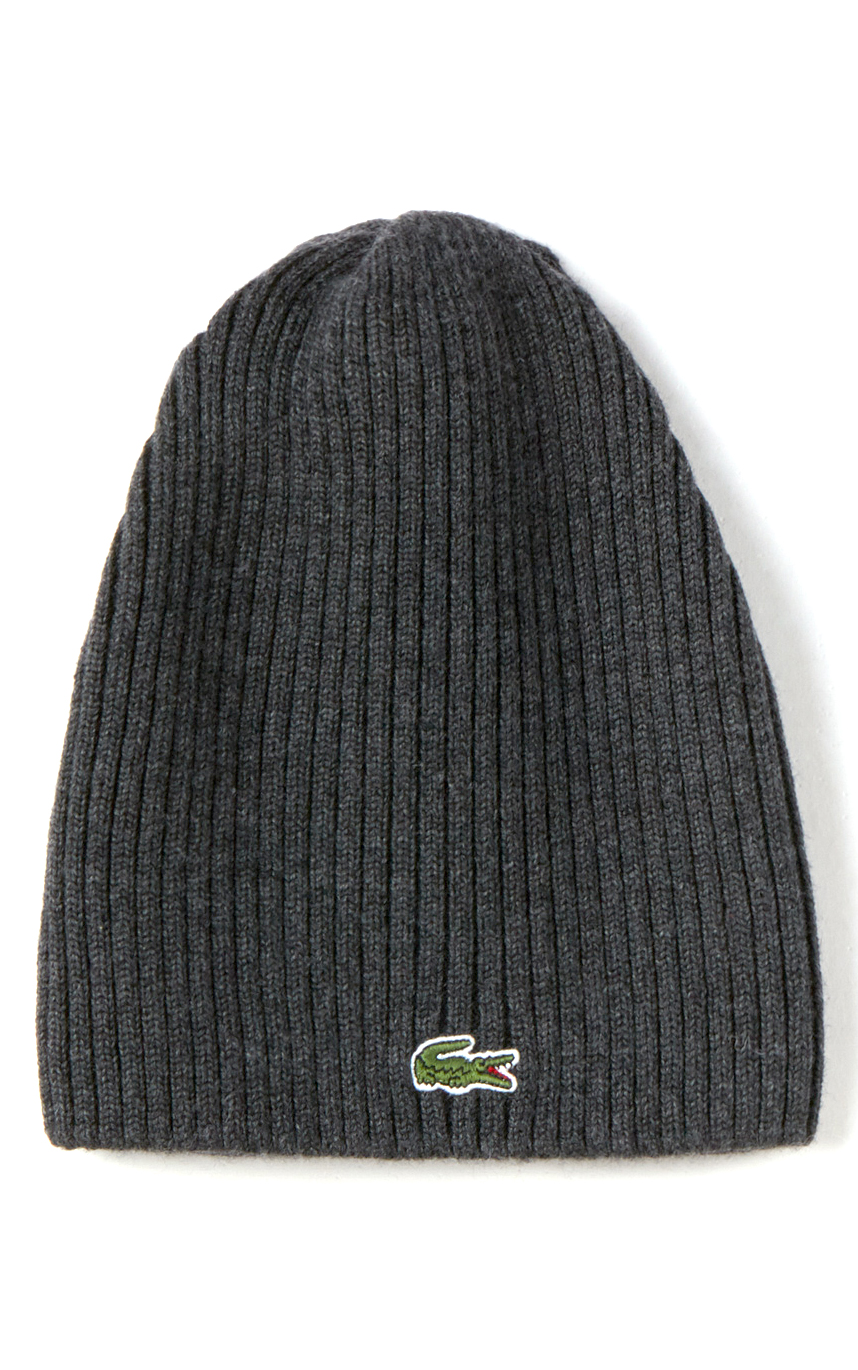 32fa1f6327b90 LACOSTE Men s Ribbed Wool Beanie – uniformsandink.com