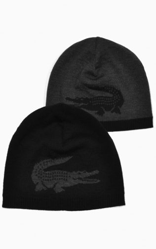 LACOSTE Men's Wool Beanie With Jacquard Crocodile