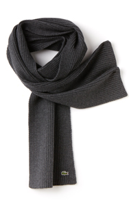 LACOSTE Men's Ribbed Mouliné Wool Scarf