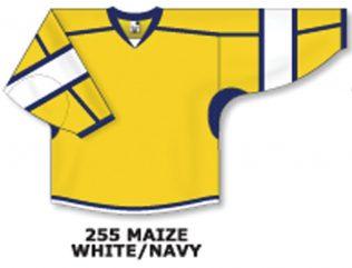 Athletic Knit Hockey Jersey H7000-Maize/White/Navy
