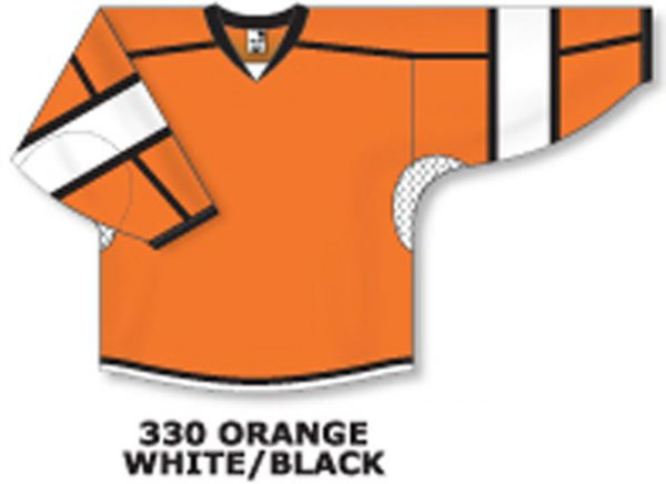 3ef8c8daa Athletic Knit Hockey Jersey H7000-Orange/White/Black ...