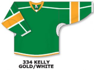 Athletic Knit Hockey Jersey H7000-Kelly/Gold/White