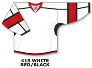 Athletic Knit Hockey Jersey H7000-White/Red/Black
