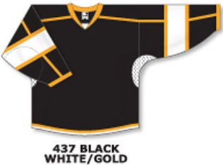 Athletic Knit Hockey Jersey H7000-Black/White/Gold