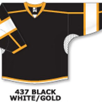 Athletic Knit Hockey Jersey H7000-Black/White/Gold