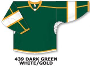 Athletic Knit Hockey Jersey H7000-Dark Green/White/Gold