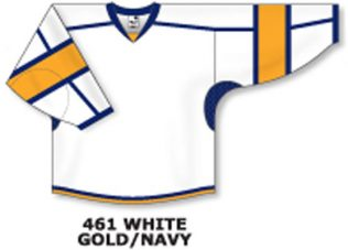 Athletic Knit Hockey Jersey H7000-White/Gold/Navy