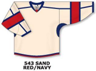 Athletic Knit Hockey Jersey H7000-Sand/Red/Navy